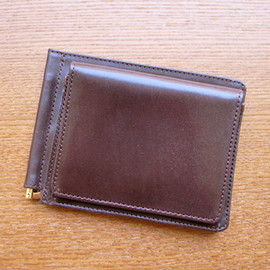 GLENROYAL - MONEY CLIP WITH POCKET (HAVANA)