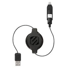 Scosche - strikeLINE pro - Retractable Charge & Sync Cable for Lightning/micro USB Devices