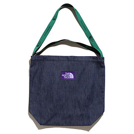 THE NORTH FACE PURPLE LABEL - Denim Logo Tape Tote-Indigo