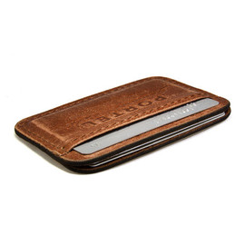 portel - Retromodern aged leather credit card wallet