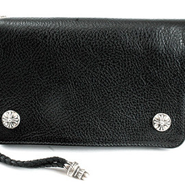 CHROME HEARTS - 2zip Wallet/Leather w/Cross Buttons/Strap