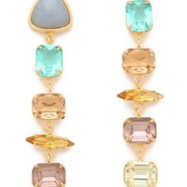 Lizzie Fortunato Crystal Column Earrings