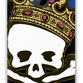 SECOND SKIN - スカルキング TYPE2 (ソフトTPUクリア) / for HTC J One HTL22/au