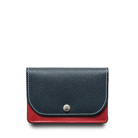 Whitehouse Cox - ホワイトハウスコックス | S1751 NAME CARD CASE / LONDONCALF × BRIDLE(NAVY/RED)