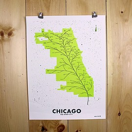 Andrew Martis - City Leaf Map Posters
