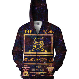 Ancient Mew Limited Edition Black Zip-Up Hoodie