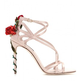 DOLCE&GABBANA - Pre-Fall 2015 Embellished satin sandals