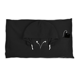 Thumbs Up - Hooded Pillowcase -Black
