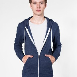 American Apparel - Tri -Blend Terry Zip Hoody Tri-Navy