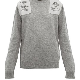 Raf Simons - Embroidered shoulder-patch wool sweater