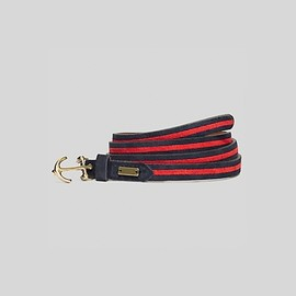 TOMMY HILFIGER - Suede Anchor Clasp Belt (NAVY)