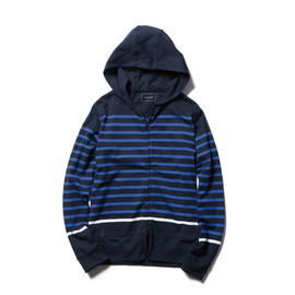SOPHNET. - PANEL BORDER ZIP-UP PARKA