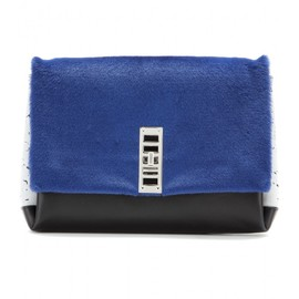 PROENZA SCHOULER - PS Elliot calf-hair and leather clutch