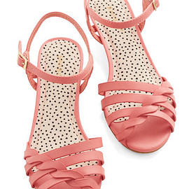 Modcloth - Better Plait than Never Sandal in Pink