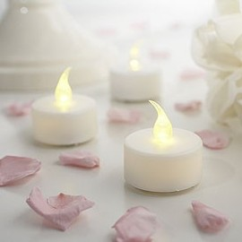 Confetti - WHITE LED TEA LIGHTS PACK