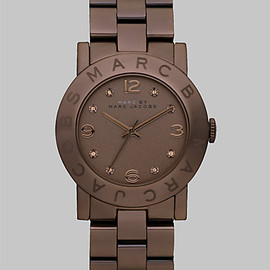 Marc by Marc Jacobs - Marc by Marc Jacobs - Crystal Accented Brown Ion-Plated Watch