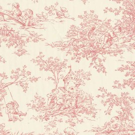 Baby Toile Blush Fabric by the Yard