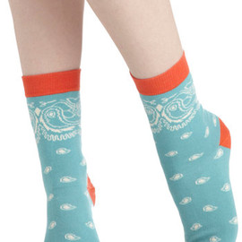 Modcloth - Prancing in Paisley Socks by PACT