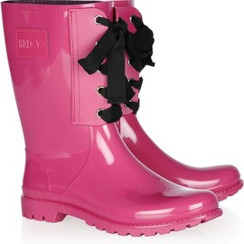 RED Valentino - rain boots in shiny pink