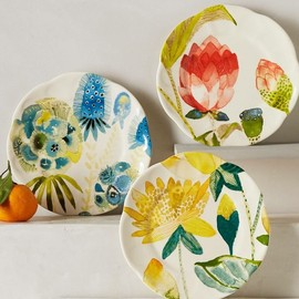 Anthropologie - Garden Buzz Dessert Plates
