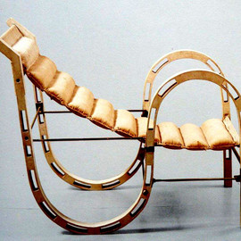 Eileen Gray - Leather & Wood Lounge Chair, ca 1927