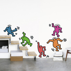 Keith Haring - Five Dancing Figures ウォールステッカー・壁用シール