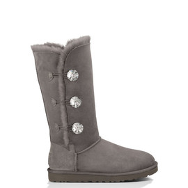 UGG - Bailey Button Bling Triplet CHARCOAL