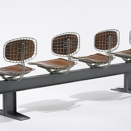 Michel Cadestin and Georges Lauren - Beaubourg Trellis seating from the Centre Georges Pompidou