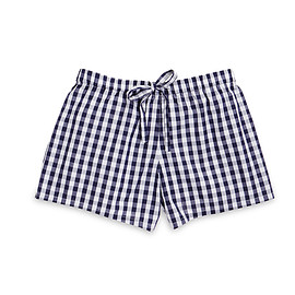 sleepy jones - Paloma Pajama Short Navy Gingham