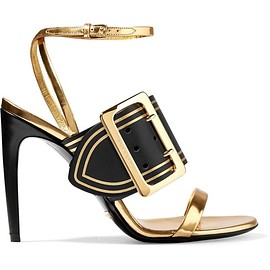 Burberry - Metallic leather sandals