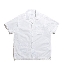ENGINEERED GARMENTS - Camp Shirt-Floral Eyelet-White