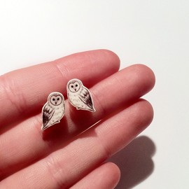 laylaamber - Dinky Owl Illustration Earrings
