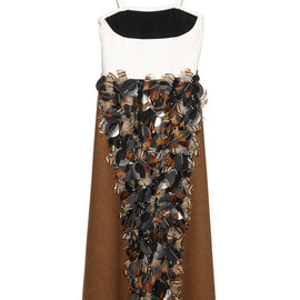 MARNI - FW2014 Alpaca Wool Felt Embellished Dress