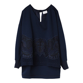 mame - Embroidery & Lace Sweatshirt