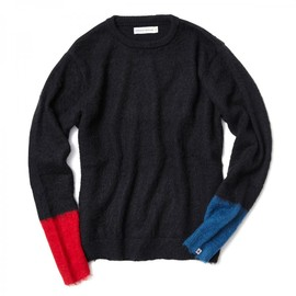 HEAD PORTER PLUS - MOHAIR KNIT BLACK