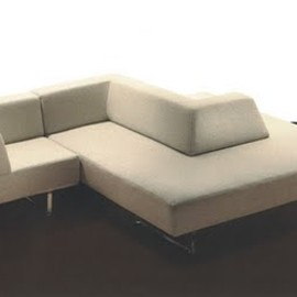 """Omnibus"" sectional sofa with roll-out daybed"
