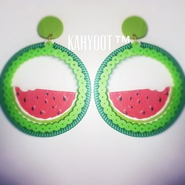 KAHYOOT - Watermelon Hoop Earrings