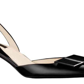Louis Vuitton - Magic Square Open Back Pump in glazed calf leather