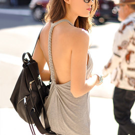Lovers + Friends - Lovers + Friends Sunlight Tank in Gray