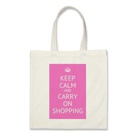 Bluebell33 - KEEP CALM AND CARRY ON SHOPPING bag