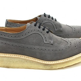 Tricker's - Grey Golosh Brogues for Eight Hundred Ships