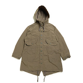 ENGINEERED GARMENTS - Highland Parka-4.5oz Waxed Cotton-Olive