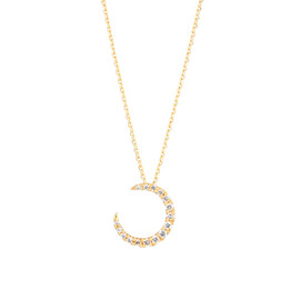 STAR JEWERY - DIAMOND MOON NECKLACE