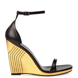 SAINT LAURENT - SS2015 Jane leather skinny wedge sandals