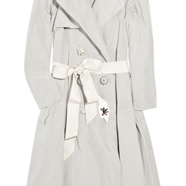 LANVIN - Embellished taffeta trench coat