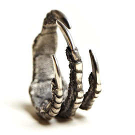 ANN DEMEULEMEESTER - Pigeon Claw Silver Ring