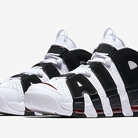 NIKE - Air More Uptempo - White/Black/Varsity Red