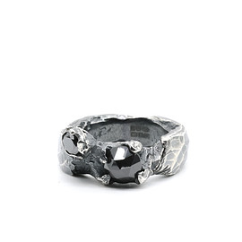 Chin Teo - Capella Ring - Black Diamonds