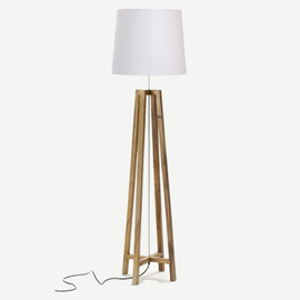 THE CONRAN SHOP - CROSS FLOOR LIGHT NATURAL WOOD WHITE