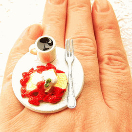 SouZouCreations - Coffee and French Toast Miniature Food Ring